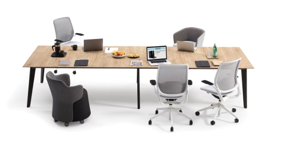 Cubb Tables Orangebox Meeting + Classroom Tables On White