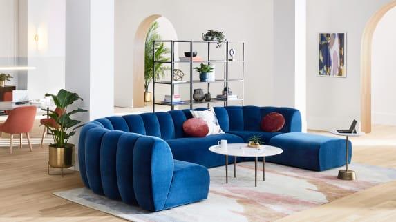 Image showing West Elm Work Belle lounge