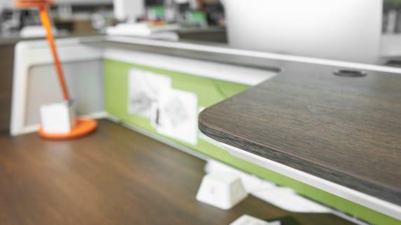 detail shot of Bivi desk with Dash light