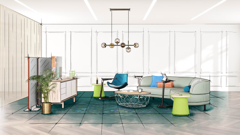 Relaxation Enviroment with Sofa, Bolia Table