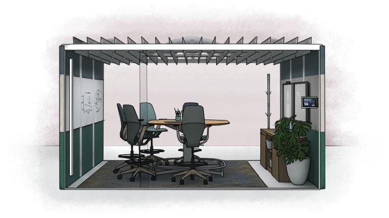brainstorming enclave in office