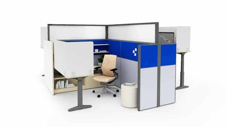 Panel Systems workspace for the post-covid workplace