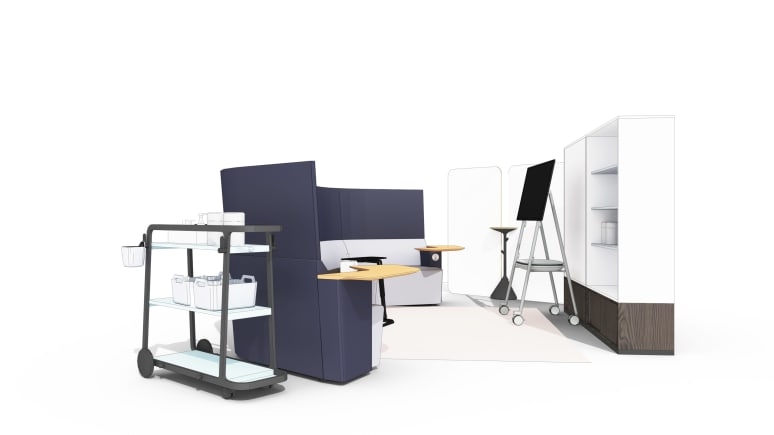 Shared Space Open Lounge-Based Collaboration