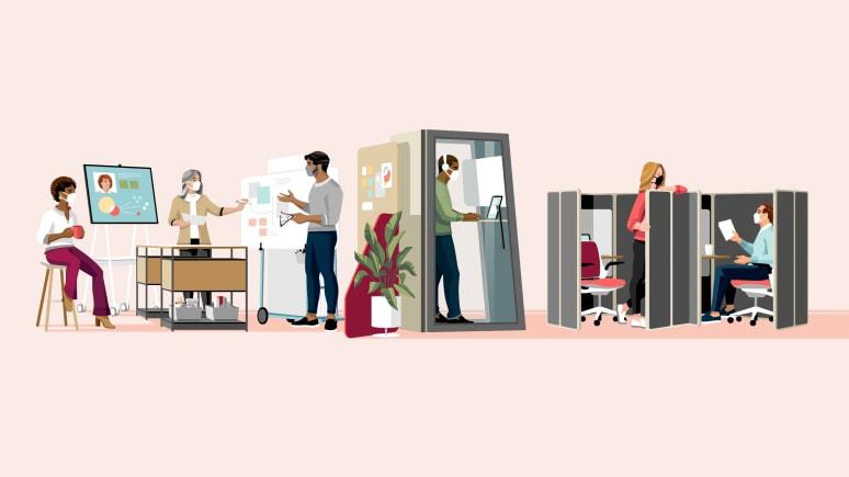 Work Better - Illustration Design Principle Open + Enclosed