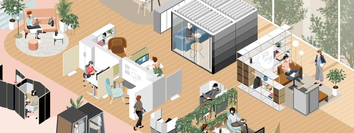 Espaces de <br />travail : répondre aux nouvelles attentes des employés