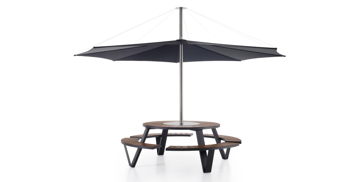 Extremis Pantagruel Table with Inumbrina Parasol