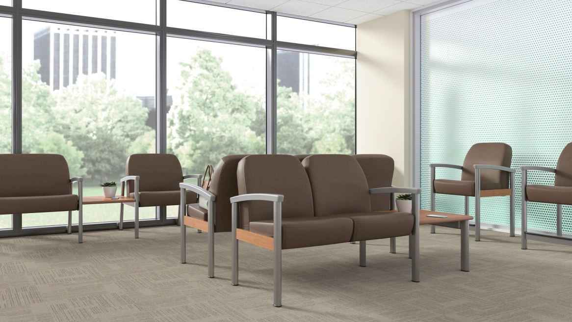 Outlook Jarrah seating in a waiting room