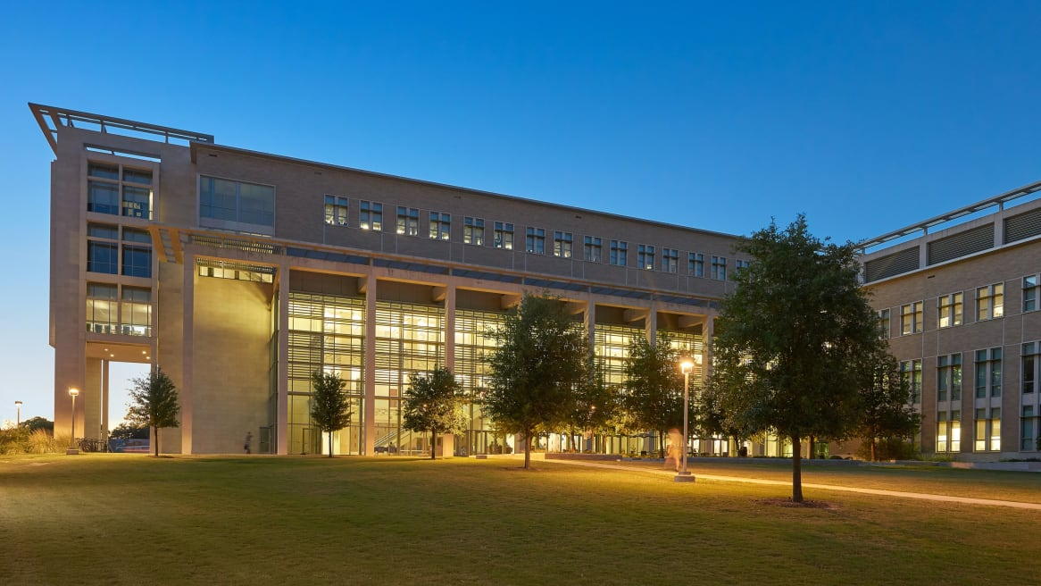 Picture of the Texas A&M university building