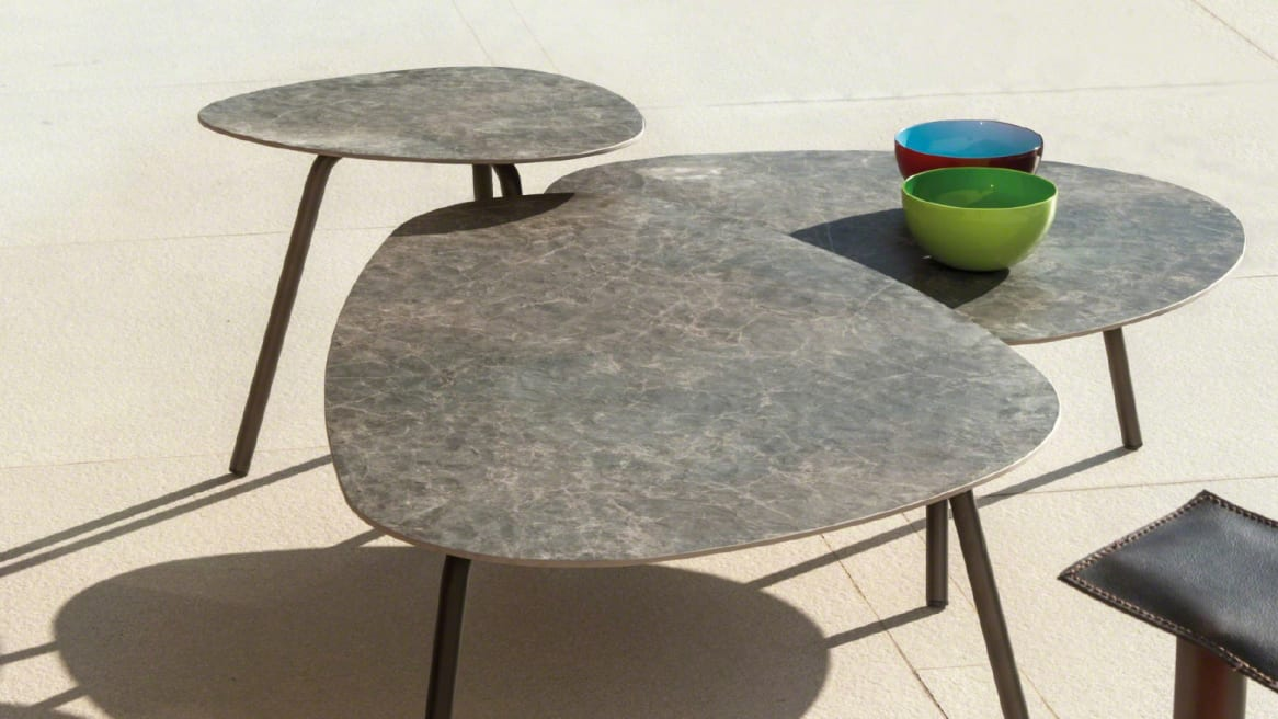 marble Emu Terramare Tables by Coalesse