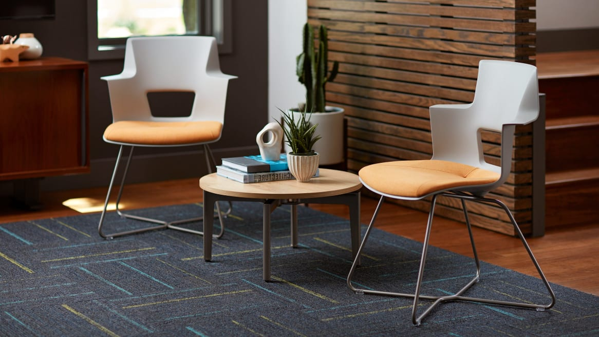 turnstone Shortcut X Base chair with table in between
