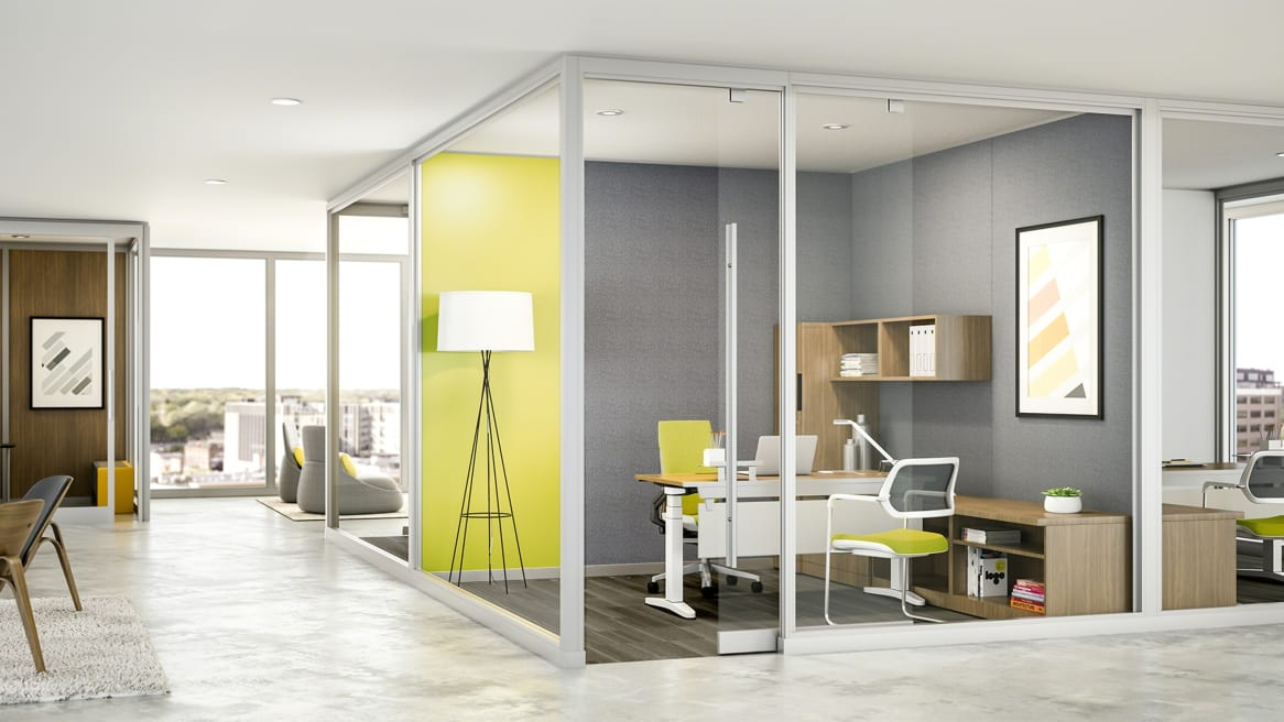 Privacy Wall around office, used in a private space for meetings