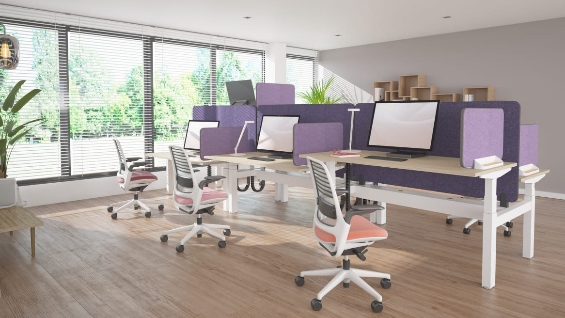 Migration height-adjustable desk and Series 1 chair