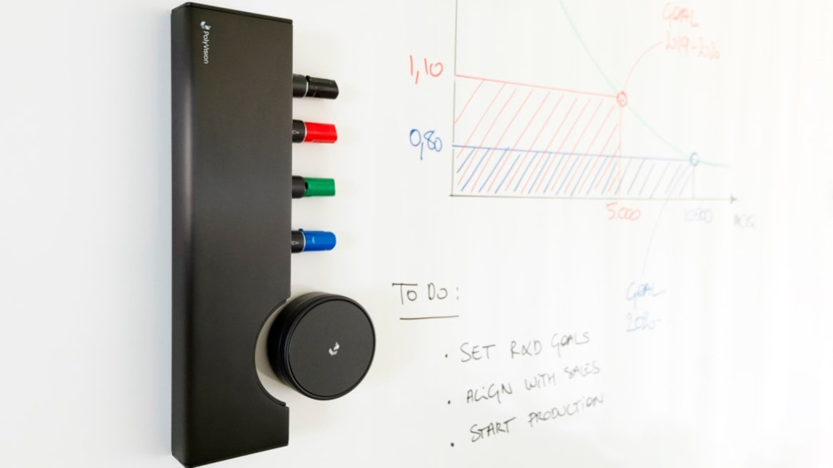 Collaborative ToolBar mounted on a whiteboard