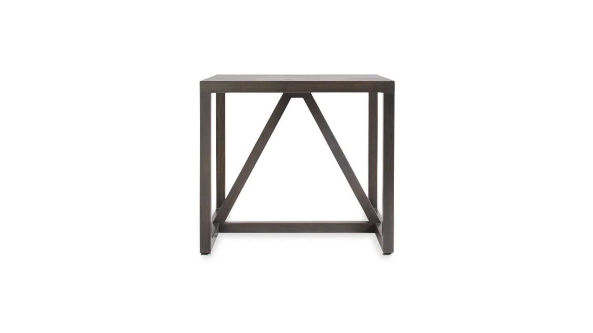 Blu Dot Strut Wood Side Table On White