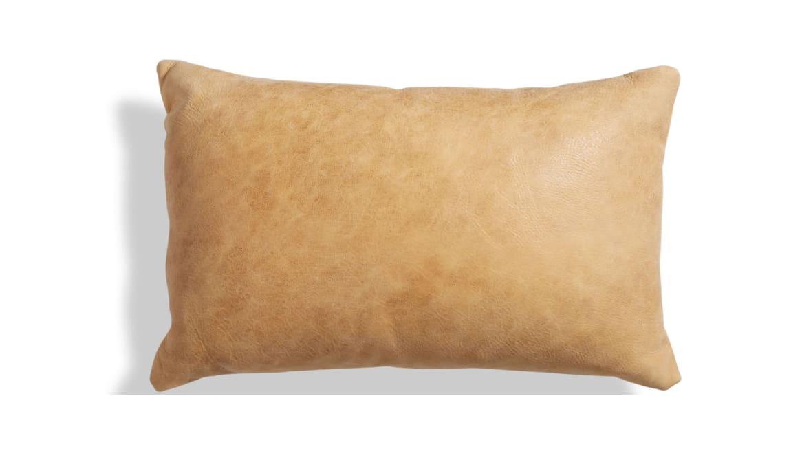 Blu Dot Signal Leather Lumbar Pillow On White