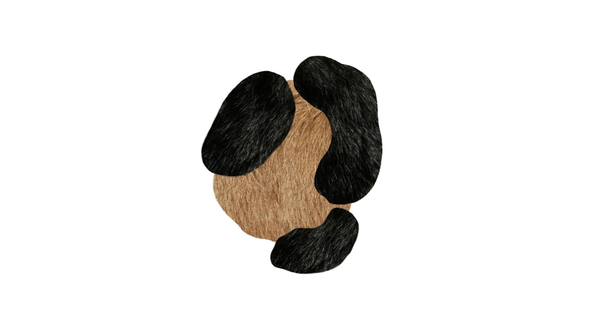bearded leopard 1 moooi carpets on white
