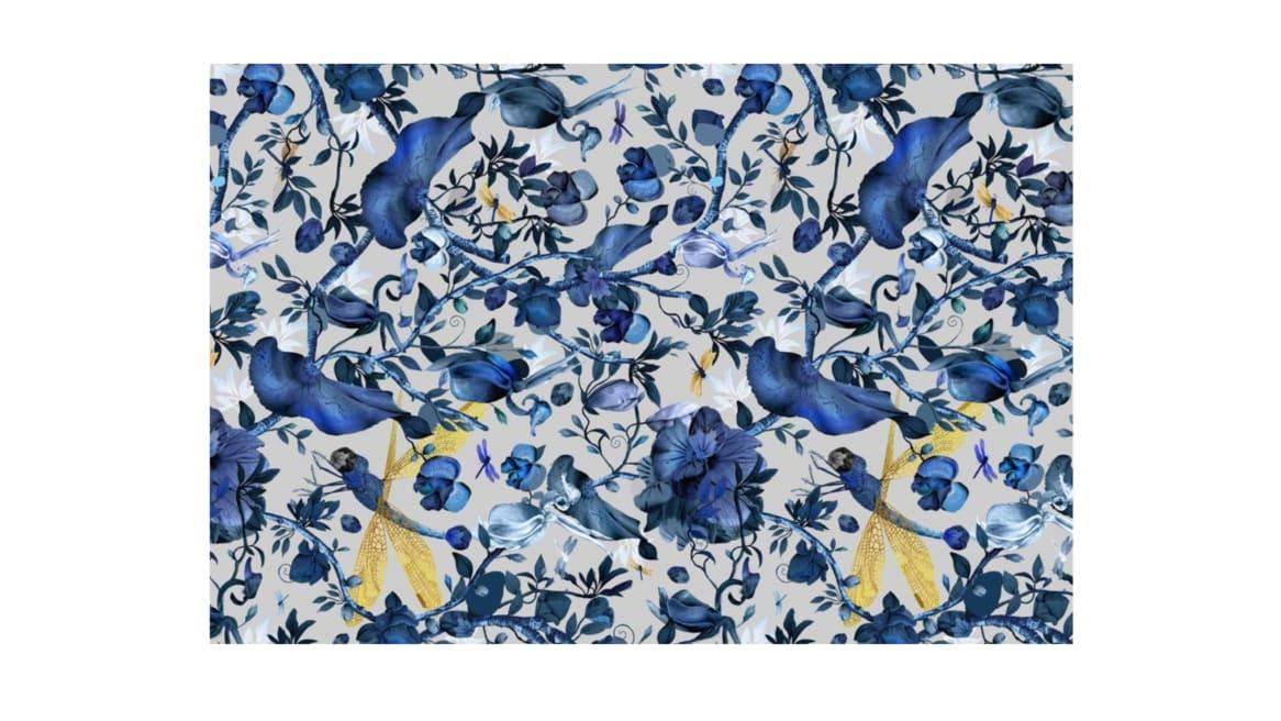 Biophillia Blue Rectangle Moooi Carpets On White