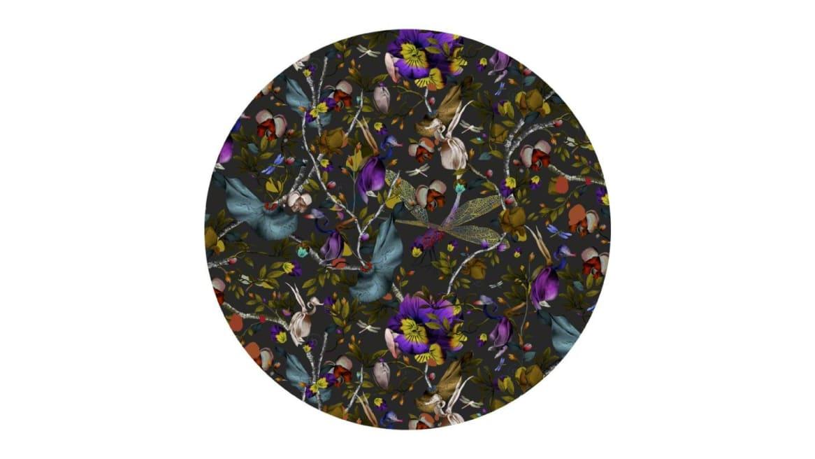 Biophillia Dark Slate Round Moooi Carpets On White