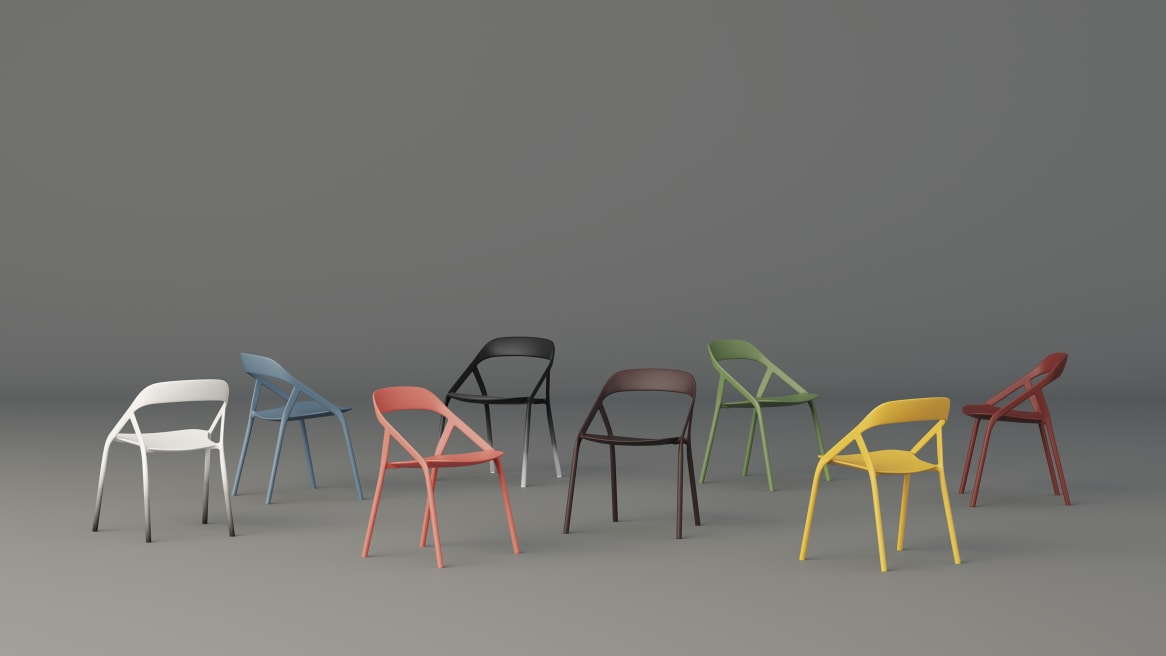 LessThanFive Chairs on a grey background