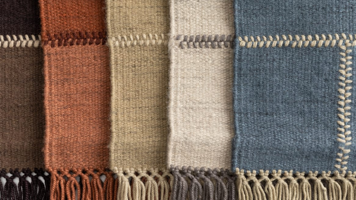 Coalesse Nanimarquina Patch Rug in five different colors