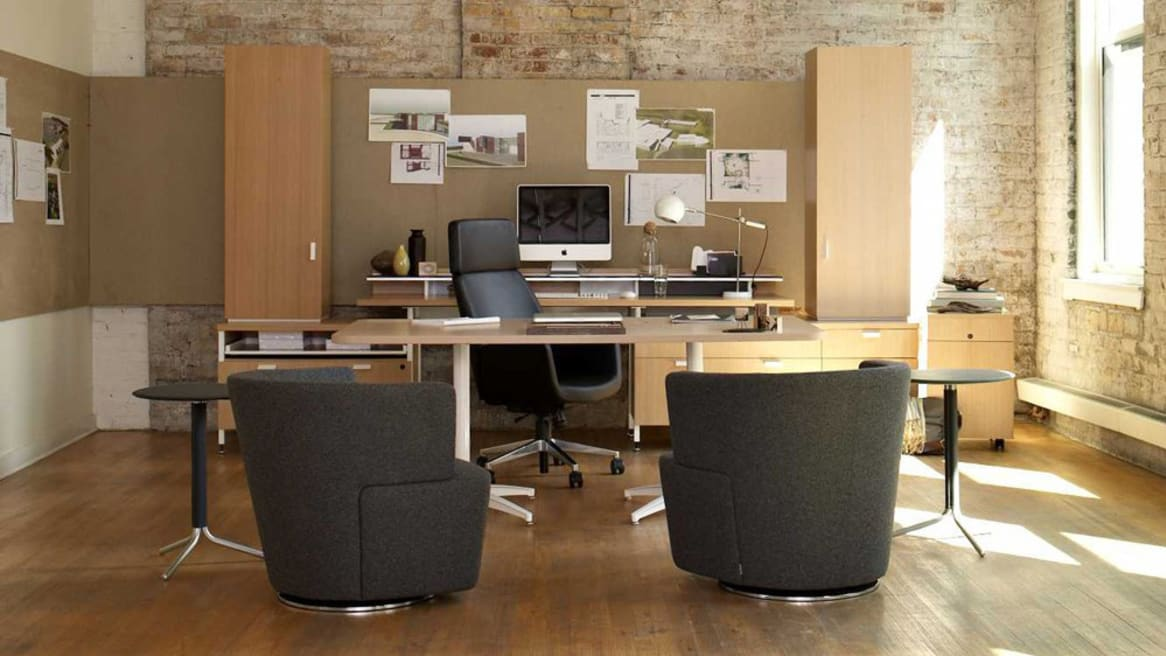 Two Joel chairs in a office setting