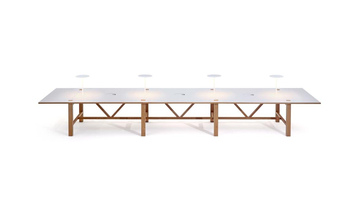 BAE Orangebox Meeting Classroom Tables On White