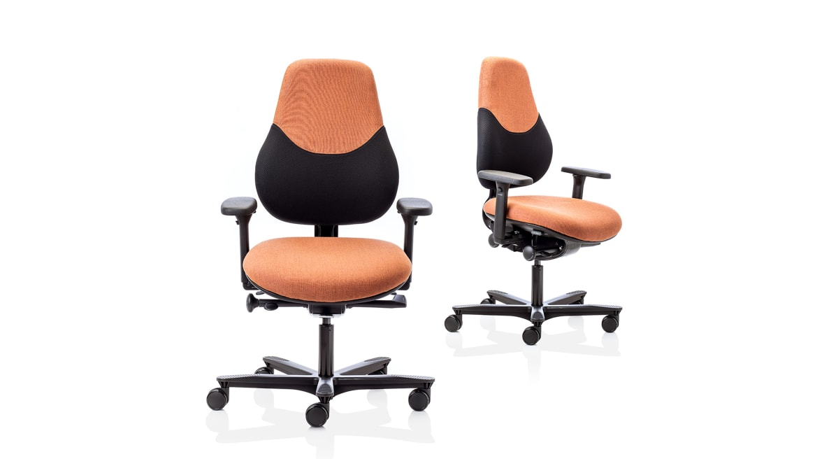 Flo Orangebox Office Chair On White