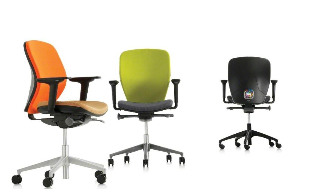 Joy Orangebox Office Chairs On White