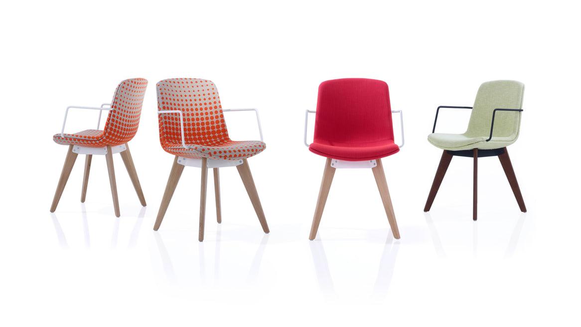 Cubb Orangebox Guest Chairs On White