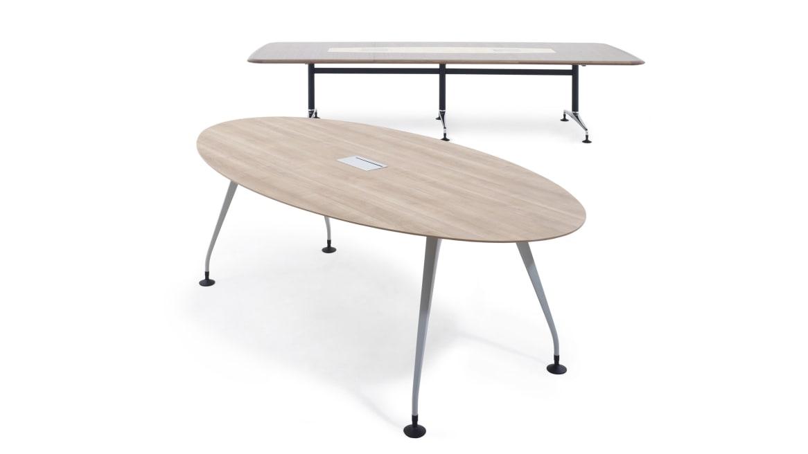 Pars Orangebox Meeting + Classroom Tables on White