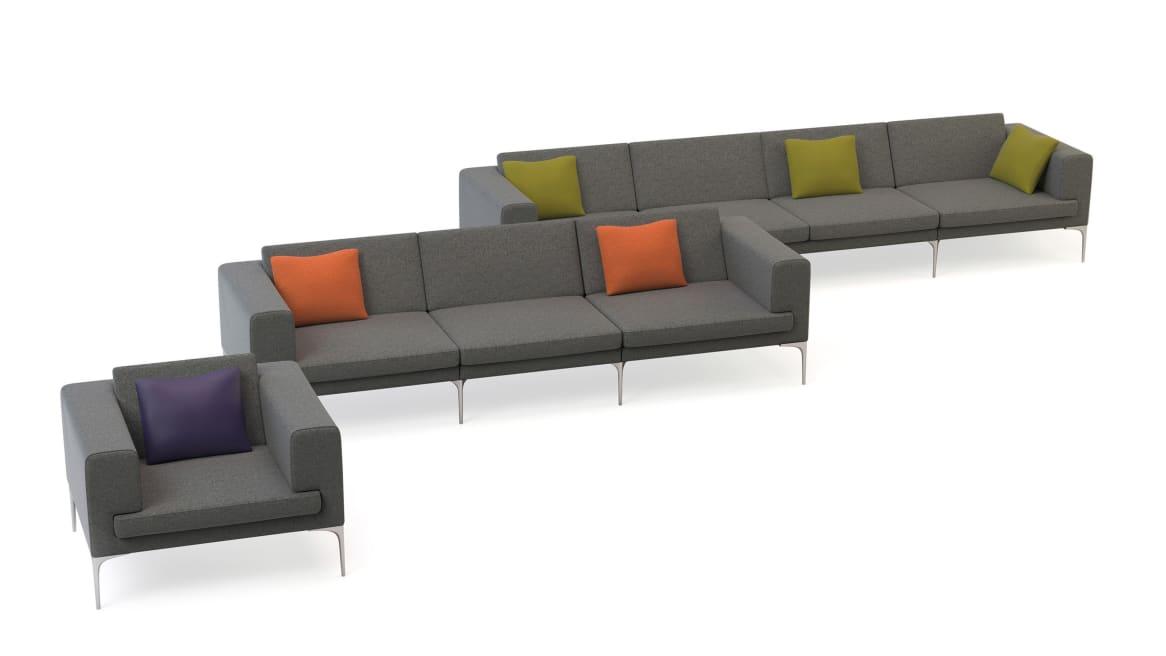 Vale Orangebox Lounge Seating On White