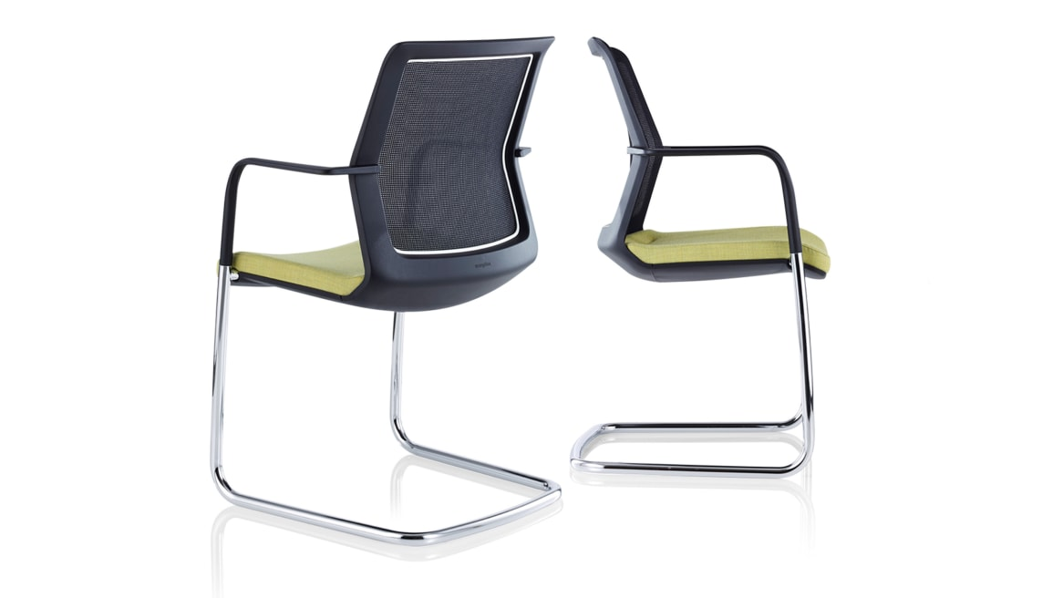 Workday Orangebox Guest Chairs On White