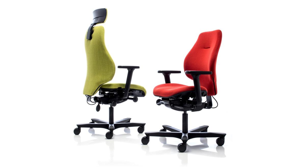 Spira Plus Orangebox Office Chairs On White