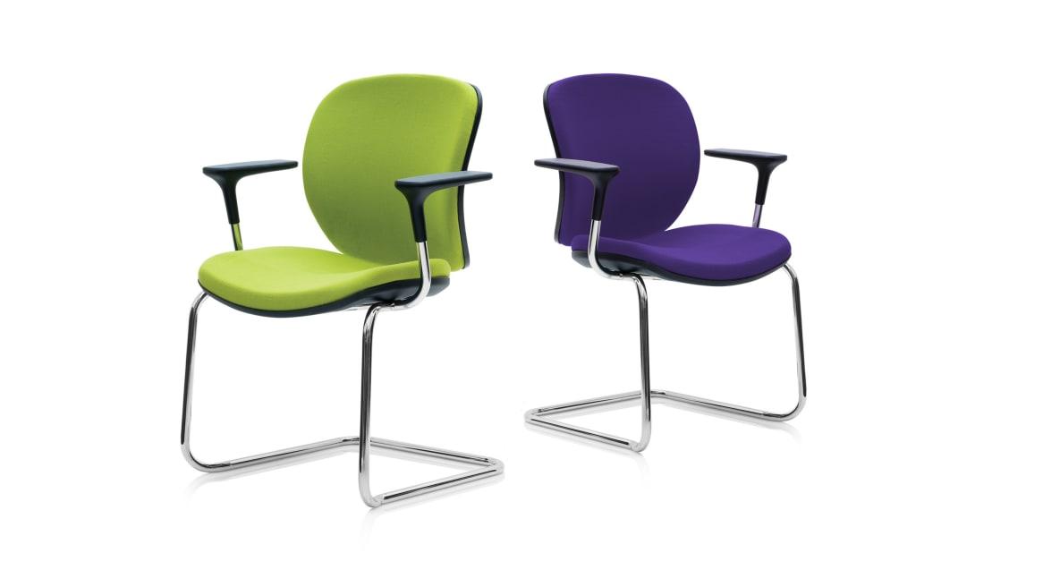 Orangebox Joy Meeting Chair on White