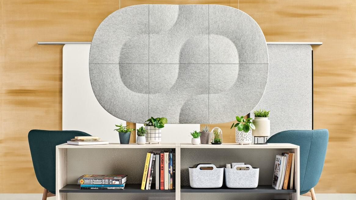 Truchet Acoustic Tiles and Share It Open Shelves