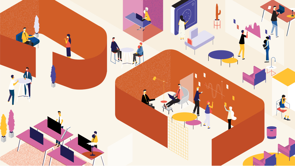 returning to the workplace illustration