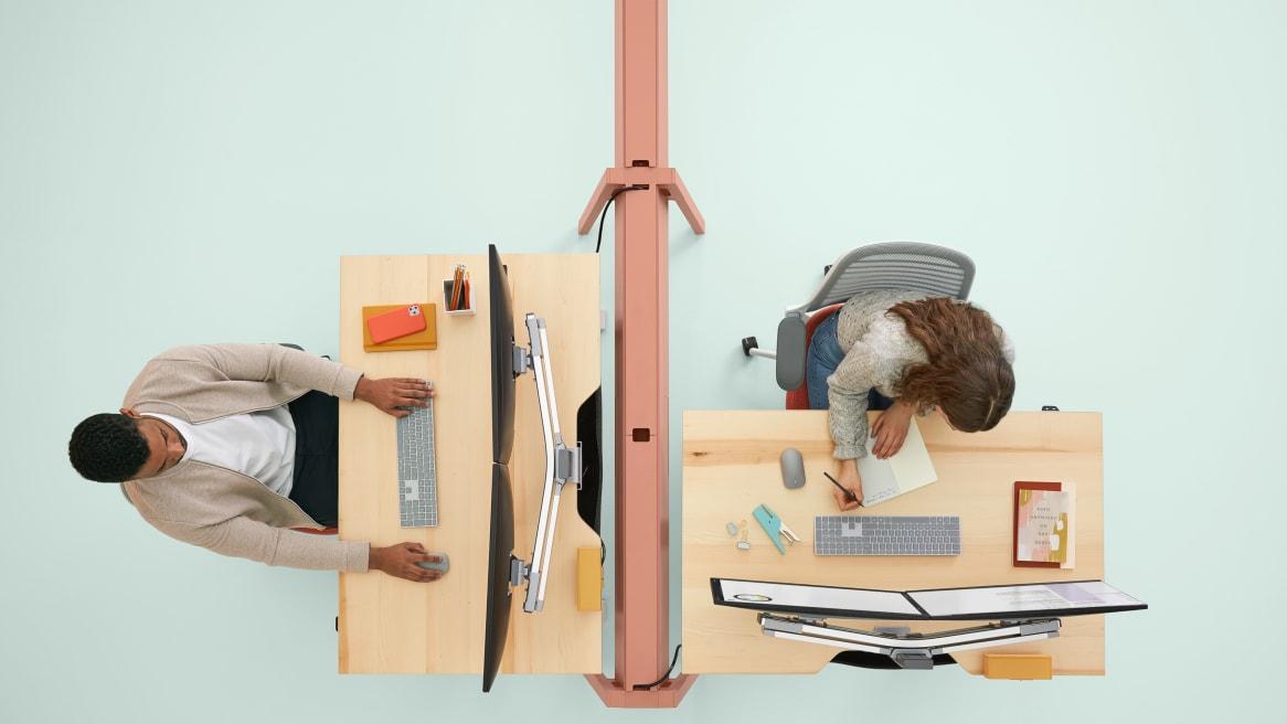 Bivi Height Adjustable Desk overhead view