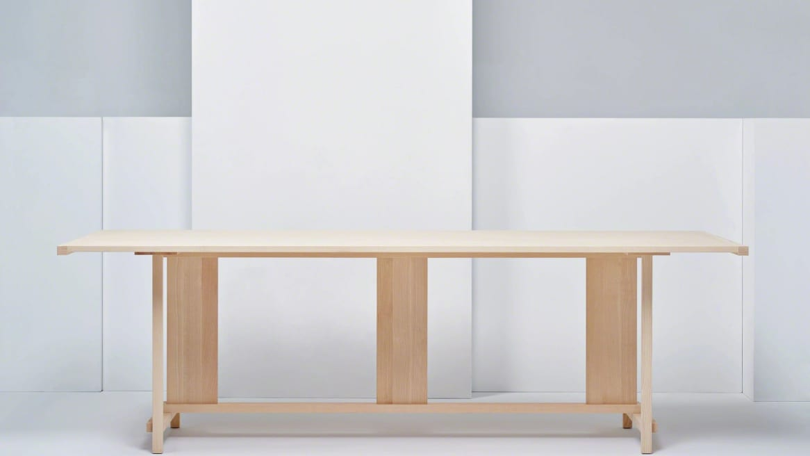 Clerici table in a natural ash color