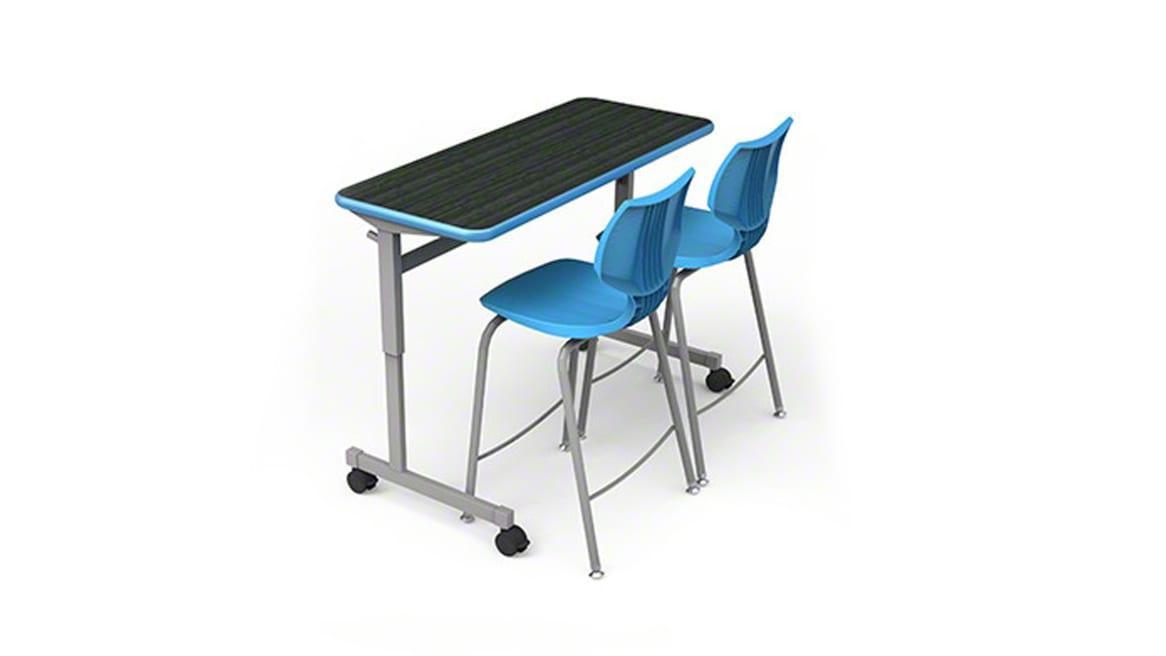 Smithe System Silhouette, table, on white