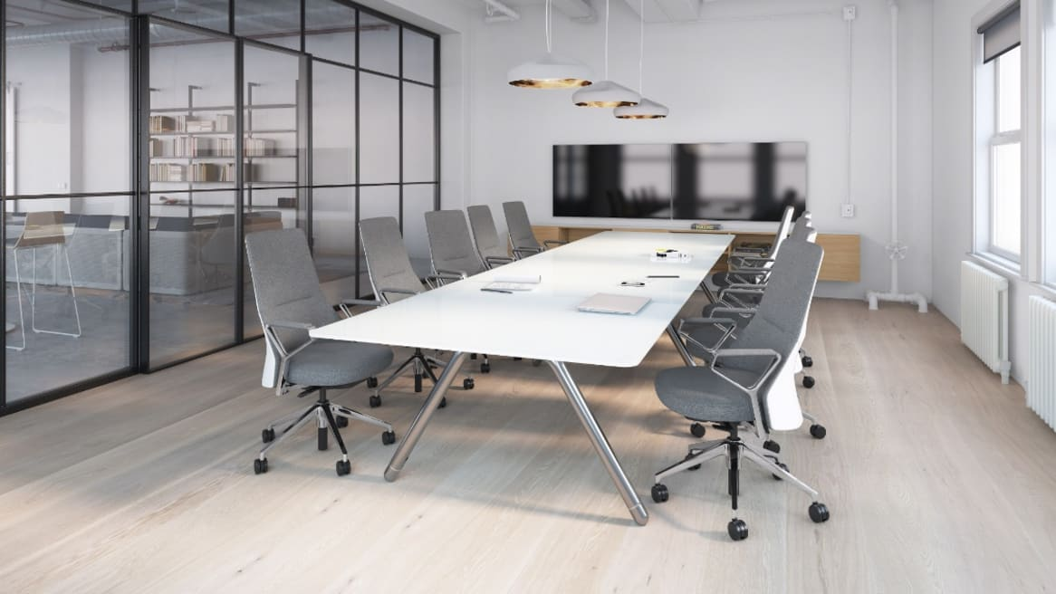 Potrero415 Work-Height Boat Conference Table, 54