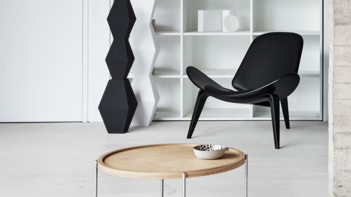 Carl Hansen Shell Lounge Chair CH07, Beech