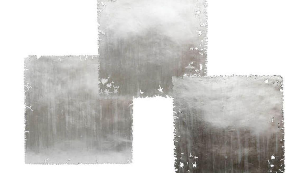 SILVER LEAF SQUARE WALL ART