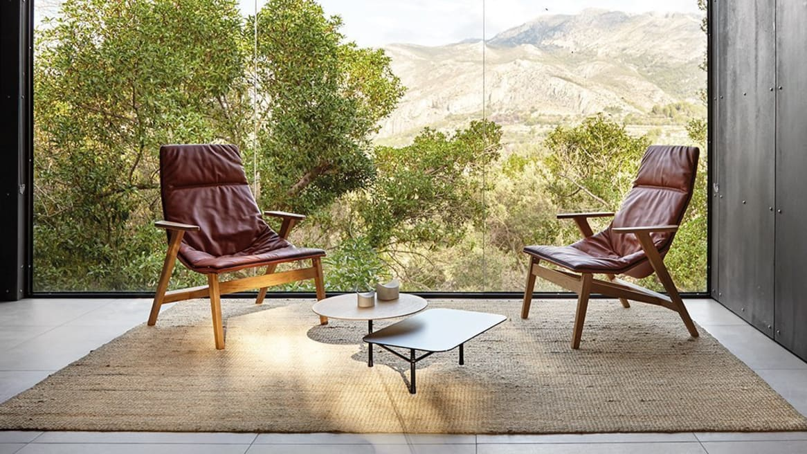 Ace Wooden Base Armchair Soft Upholstery