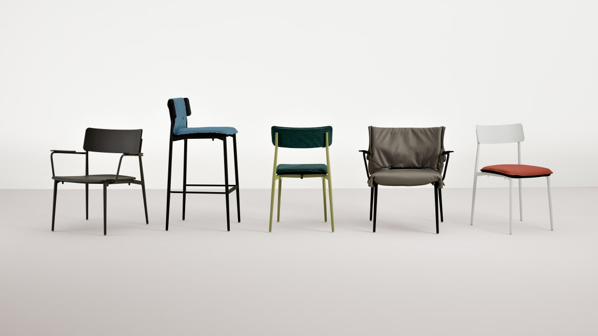 gray background image of Simple seating collection