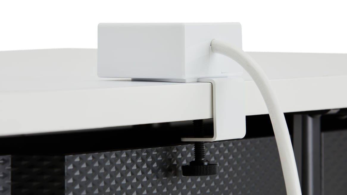 close up to the back of a powerstrip cube