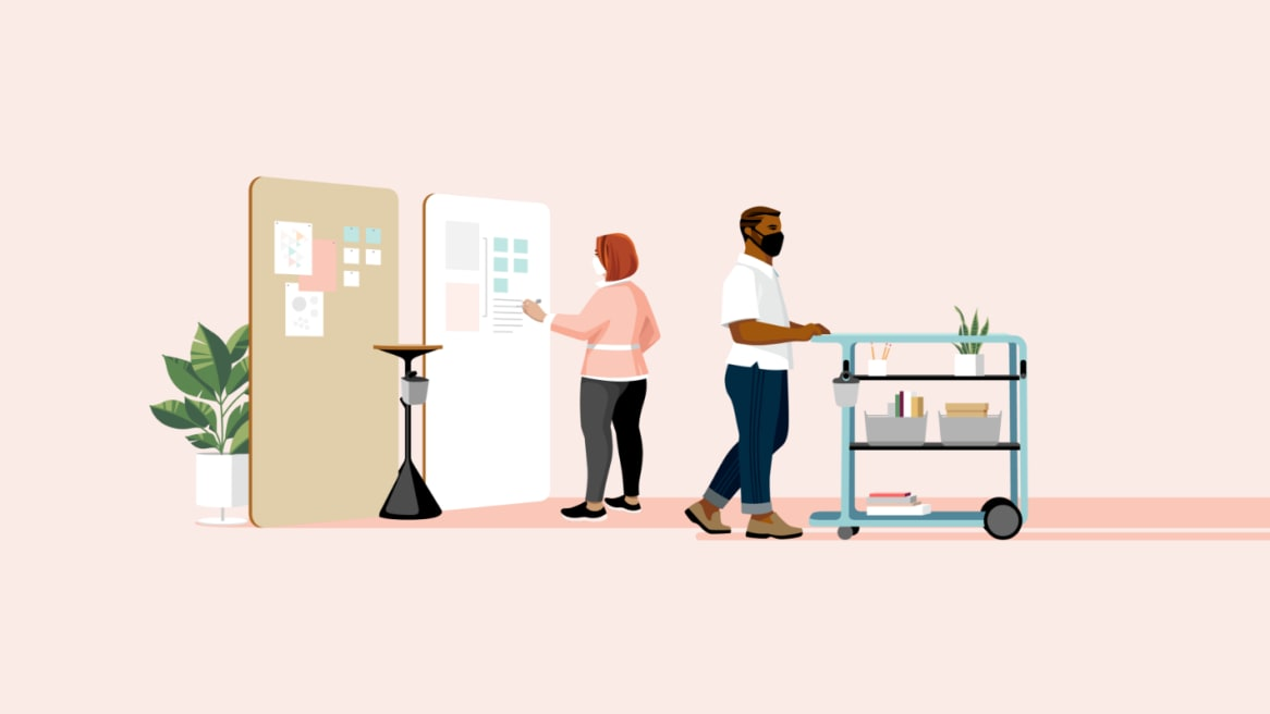 360 The Great Office Reset Illustration Design Principle Fixed to Fluid
