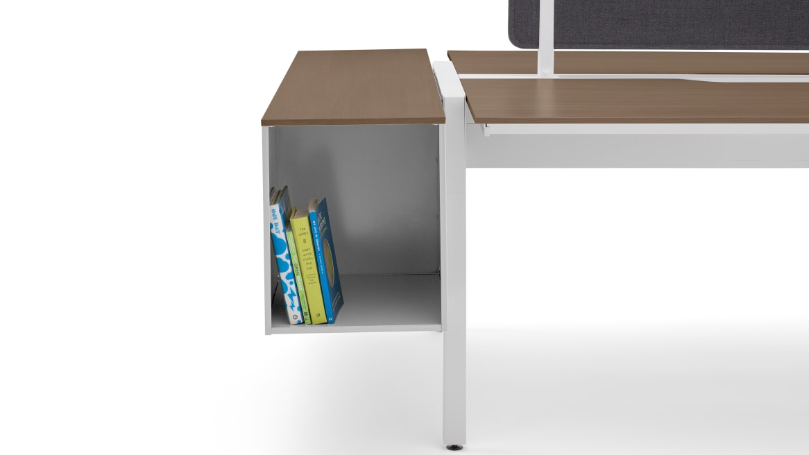on white image of half of a desk showing bivi trunk
