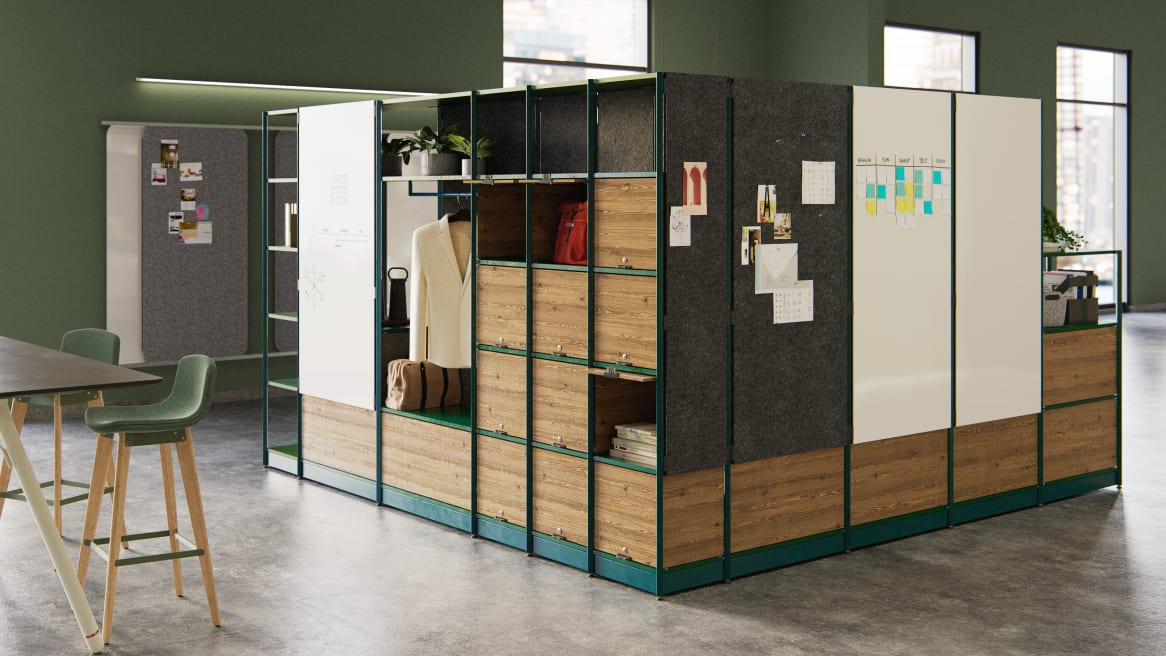 EMEA Steelcase Flex Active Frames in workplace environment