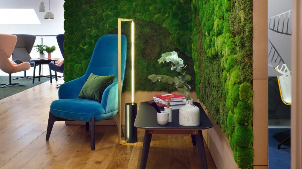 lounge setting in a corner