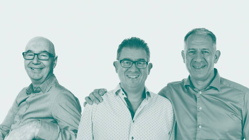 Three men, the founders of Orangebox